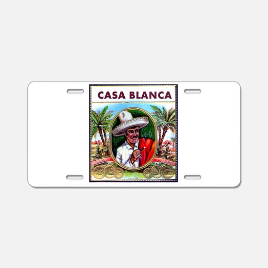 Casa Blanca Cigar Label Aluminum License Plate