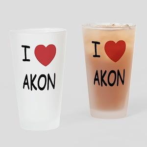 I heart Akon Drinking Glass