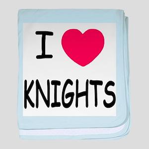 I heart knights baby blanket
