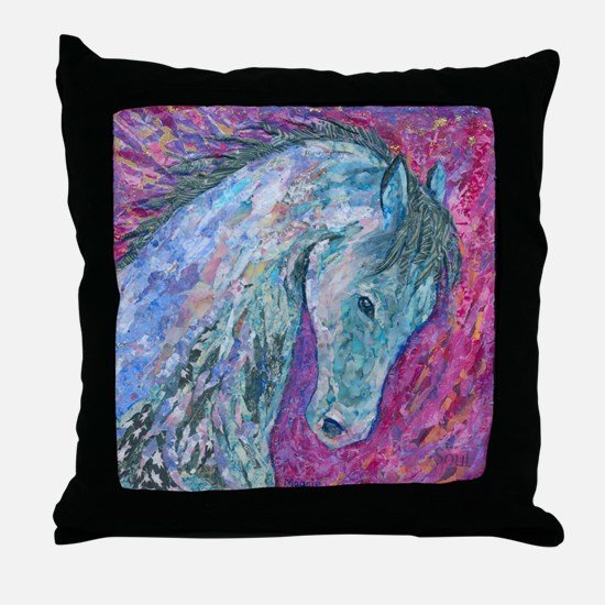 Passion Horse Throw Pillow