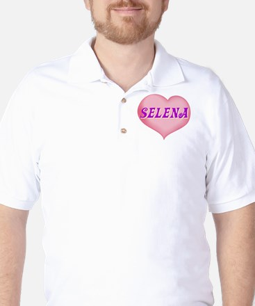 selena heart Golf Shirt