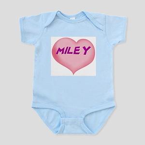 miley heart Infant Bodysuit