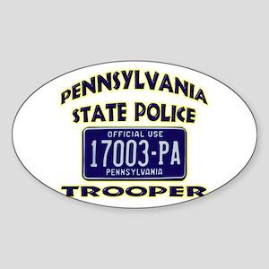 Pennsylvania State Police Sticker (Oval)