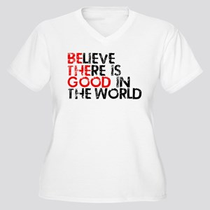 Be The Good In The World Women's Plus Size V-Neck