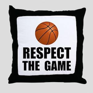 Respect Basketball Throw Pillow