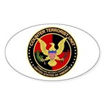Counter Terrorist Oval Sticker