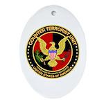 Counter Terrorist Oval Ornament