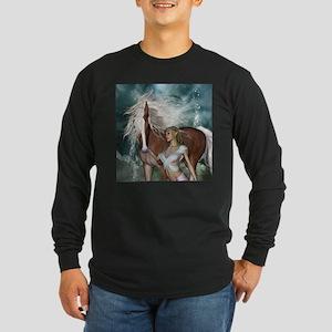 Wonderful fairy with horse Long Sleeve T-Shirt