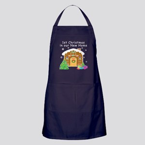 1st Christmas In Our New Home Apron (dark)