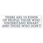 There are 10 kinds Sticker (Bumper 10 pk)