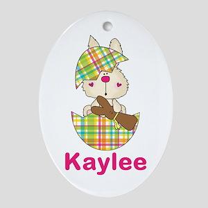 Kaylee's Easter Egg Oval Ornament