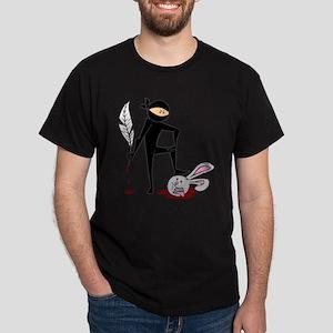 Plot Ninja kills Plot Bunny Dark T-Shirt