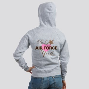 Proud Air Force Mom Women's Zip Hoodie