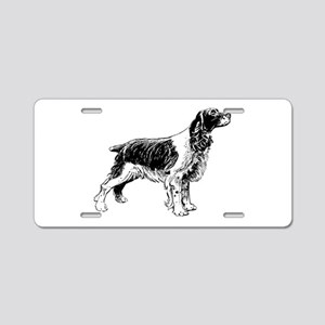 Springer Spaniel Aluminum License Plate