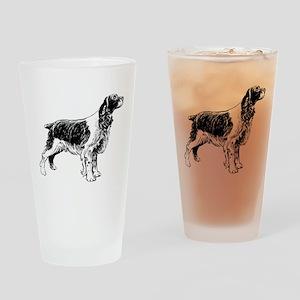 Springer Spaniel Drinking Glass