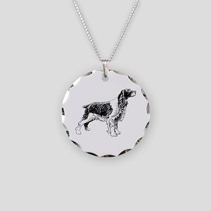 Springer Spaniel Necklace Circle Charm