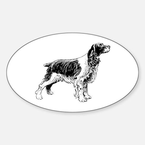 Springer Spaniel Sticker (Oval)