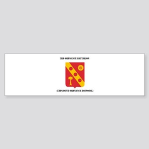 3rd Explosive Ordnance Disposal with Text Sticker