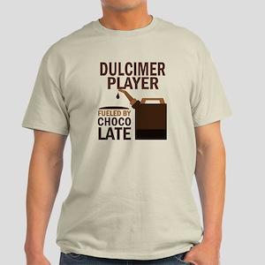 Dulcimer Player Powered By Donuts Light T-Shirt
