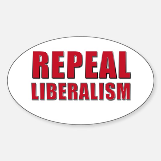 Repeal 5 Red Sticker (Oval)