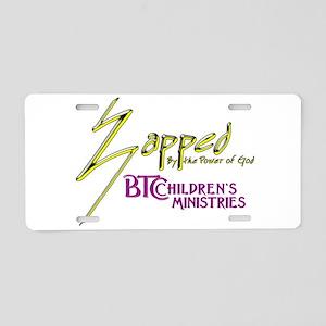 Zapped Logo Aluminum License Plate