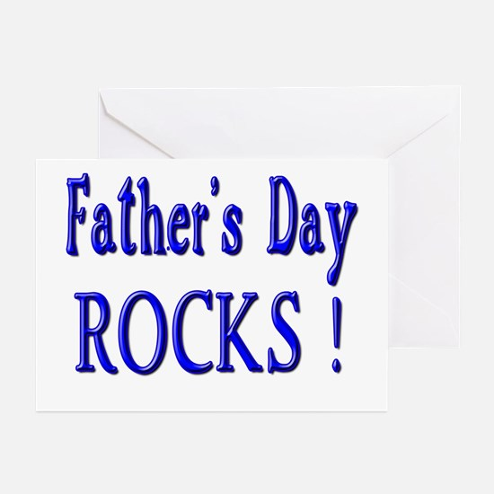 Father's Day Rocks ! Greeting Cards (Pk of 10)