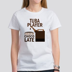 Tuba Player Powered By Donuts Women's T-Shirt