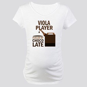 Viola Player Powered By Donuts Maternity T-Shirt