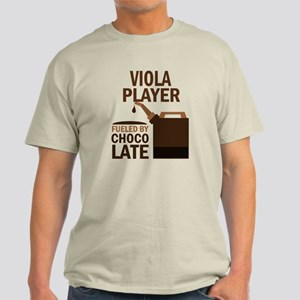 Viola Player Powered By Donuts Light T-Shirt