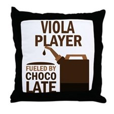 Viola Player Powered By Donuts Throw Pillow