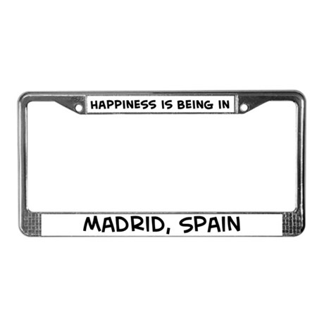 Happiness is Madrid License Plate Frame