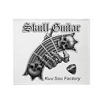 Skull Guitar Throw Blanket