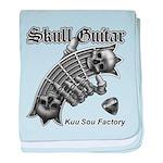 Skull Guitar baby blanket