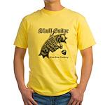 Skull Guitar Yellow T-Shirt