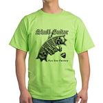 Skull Guitar Green T-Shirt