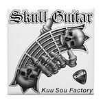 Skull Guitar Tile Coaster