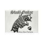 Skull Guitar Rectangle Magnet