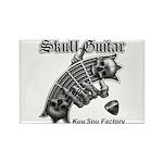 Skull Guitar Rectangle Magnet (100 pack)