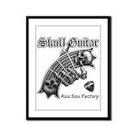 Skull Guitar Framed Panel Print