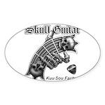 Skull Guitar Sticker (Oval)