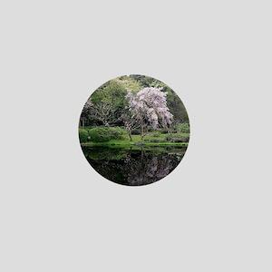Cherry Blossoms Tree Mini Button