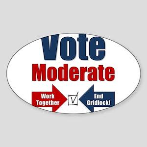 Vote Moderate Sticker (Oval)