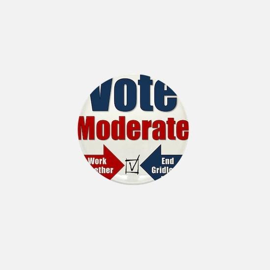 Vote Moderate Mini Button