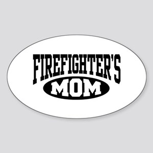 Firefighter's Mom Oval Sticker