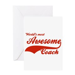 World's Most Awesome Coach Greeting Card