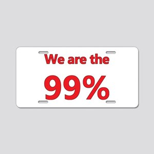 We are the 99% Aluminum License Plate