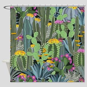 Simple Graphic Cactus Garden Shower Curtain