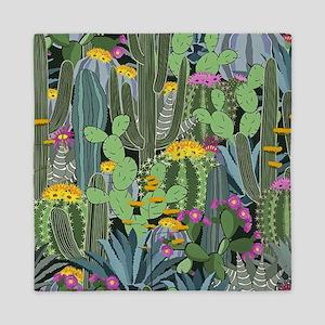 Simple Graphic Cactus Garden Queen Duvet
