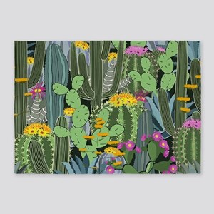 Simple Graphic Cactus Garden 5'x7'Area Rug