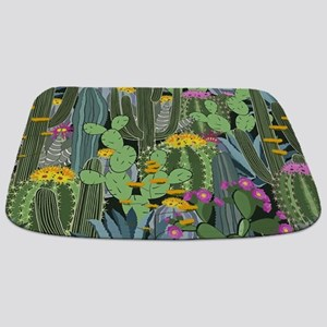 Simple Graphic Cactus Garden Bathmat